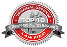 Logo Recognizing Flaherty Defense Firm's affiliation with Attorney and Practice Magazine's