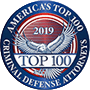 Logo Recognizing Flaherty Defense Firm's affiliation with America's Top 100